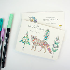 Colouring Book Foxes - colouring books