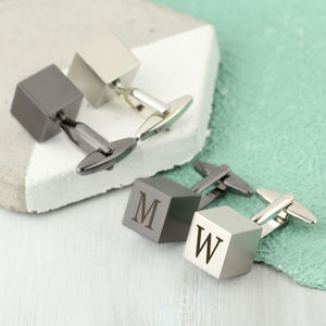 Personalised Cube Cufflinks