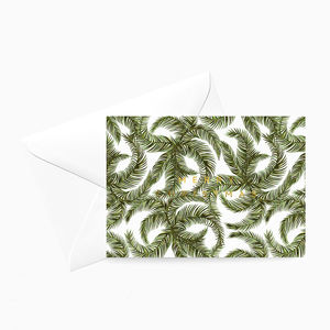 Tropical Palm Christmas Card White