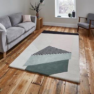 'Descend' Geometric Wool Rug - rugs & doormats