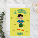 Personalised Big Brother A5 Card