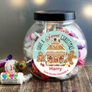 Personalised Christmas Jar Of Sweets Gift