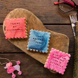 The Song Lyric Biscuit Gift Box - cakes & sweet treats