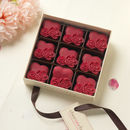 Pink Chocolate Rose Hearts