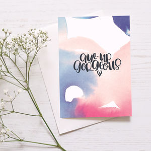 Cute Anniversary Card 'Aye Up Gorgeous' - shop by category