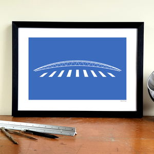 'Banana Truss' Minimalist Huddersfield Town Print - activities & sports