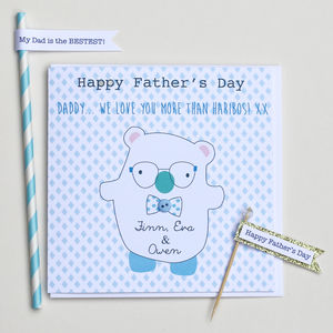 Happy Father's Day Bear Card