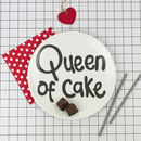 'Queen Of Cake' Fun Picnic Plate
