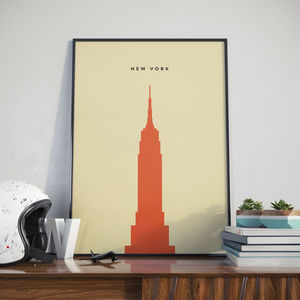 New York Empire State Building Landmark Print - treasured locations & memories