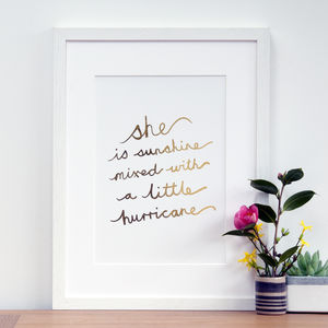 Gift For Daughter Or Granddaughter With Quote In Gold