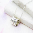 Personalised Silver Hoop Necklace
