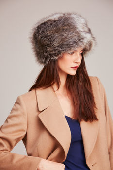 Luxuriously Soft Faux Fur Pillbox Hat