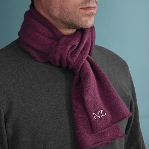 Mens Monogrammed Personalised Scarf - more