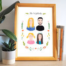 Family Portrait Personalised Hand Painted Print