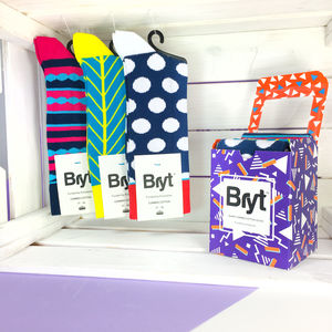 Bold Triangle Sock Gift Box - best father's day gifts