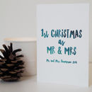 First Christmas As Mr And Mrs, Christmas Card