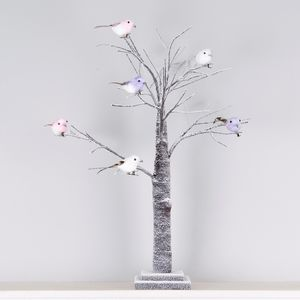 Snowy Twig Easter Tree With Pastel Birds - christmas trees