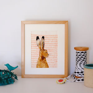 Illustrated Hare Art Print