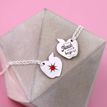 Personalised Teacher Gifts Thank You Necklace