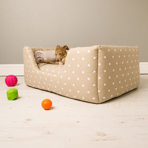 Charley Chau Deep Sided Dog Bed In Cotton - dogs