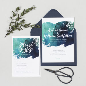 Helena Watercolour Wedding Invitations - invitations
