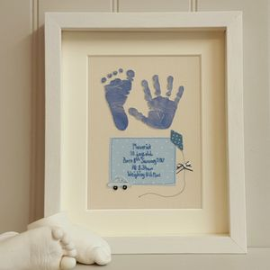 Baby Hand And Foot Fabric Artwork With Print Kit - children's room