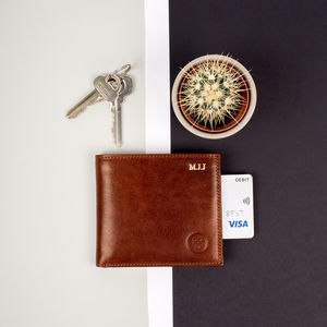 Personalised Wallet Father's Day Gift. 'The Vittore' - mens