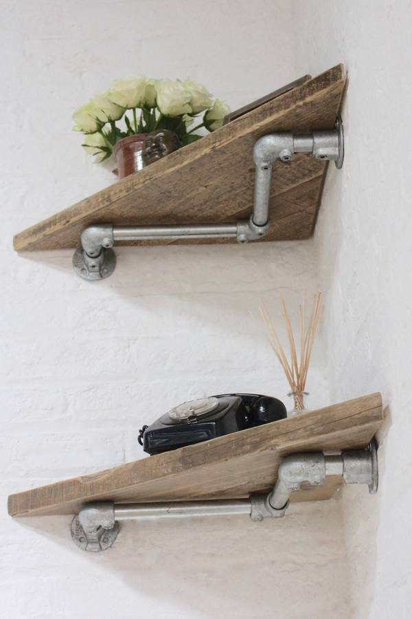 vikki pair of reclaimed wood corner shelves by urban grain