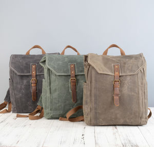 Waxed Canvas Waterproof Camping Backpack - men's accessories