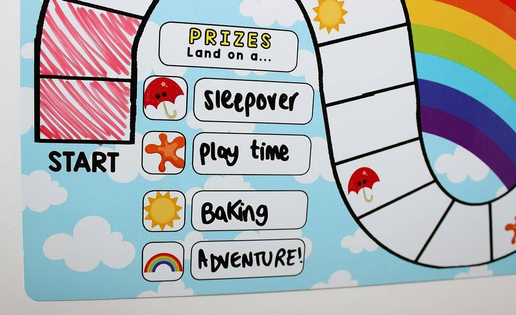 b6a57c4e30e personalised rainbow kids reward chart map by craftly ...