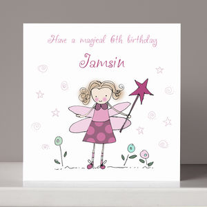 Personalised Fairy Birthday Card - birthday cards