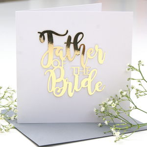 Father Of The Bride Card - what's new