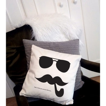 Personalised Mustache Cushion