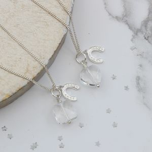 Personalised Good Luck Charm Pendant - necklaces & pendants