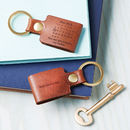 Personalised Leather 'Day You Became My…' Keyring