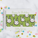 1st Birthday Personalised Bunny Card A5