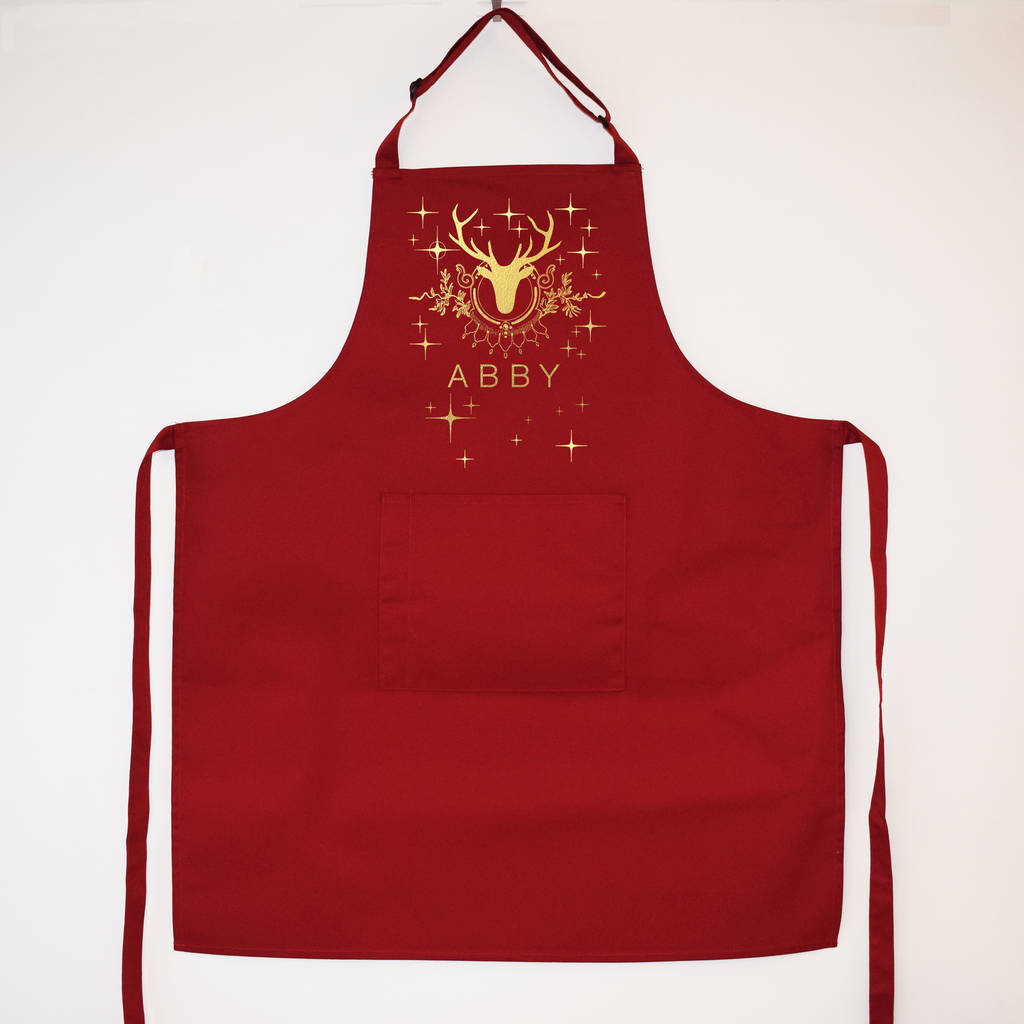 personalised stags head christmas apron - Christmas Apron