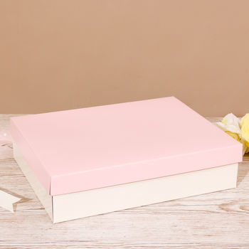 Luxury Large Pink And Ivory Gift Box
