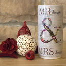 Personalised Couples Mr And Mrs Mugs, His Her Gift Set