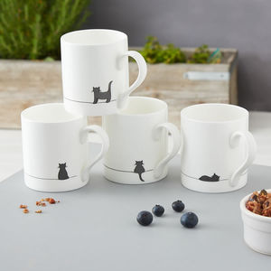 Cat Mugs Set Of Four