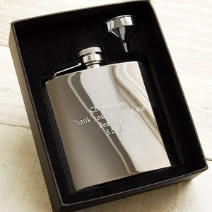 Personalised Hip Flask - wedding thank you gifts