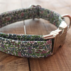 Thirzah Liberty Fabric Dog Collar - clothes