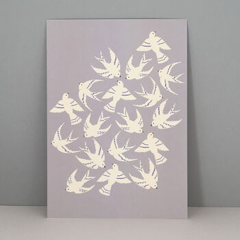 Take Off Birds Art Wall Print