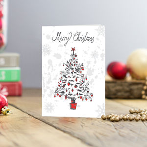 Christmas Tree Greetings Cards Pack Of Five