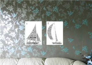 Sailing Personalised Word Art Print