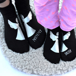 Personalised Mummy And Me Matching Angel Socks