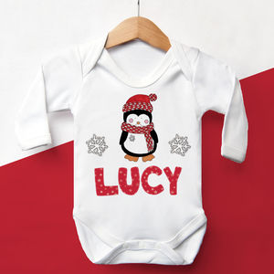 Personalised 'First Christmas' Penguin Vest - christmas clothing & accessories
