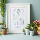 Personalised Crazy Plant Lady Illustrated Print