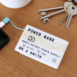 Credit Card Design Personalised Power Bank