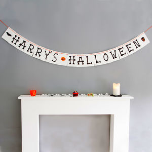 Personalised Halloween Bunting - party decorations
